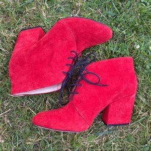 Red Suede Kate Spade Booties